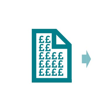 Paper icon with pound signs