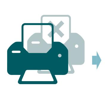 Two printer icons