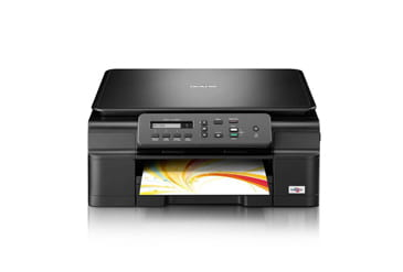 Brother printer with colour document in output tray