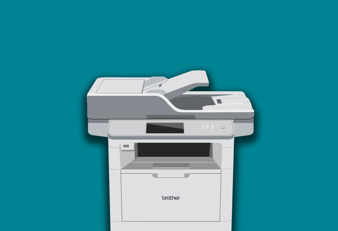 Illustrated Brother printer
