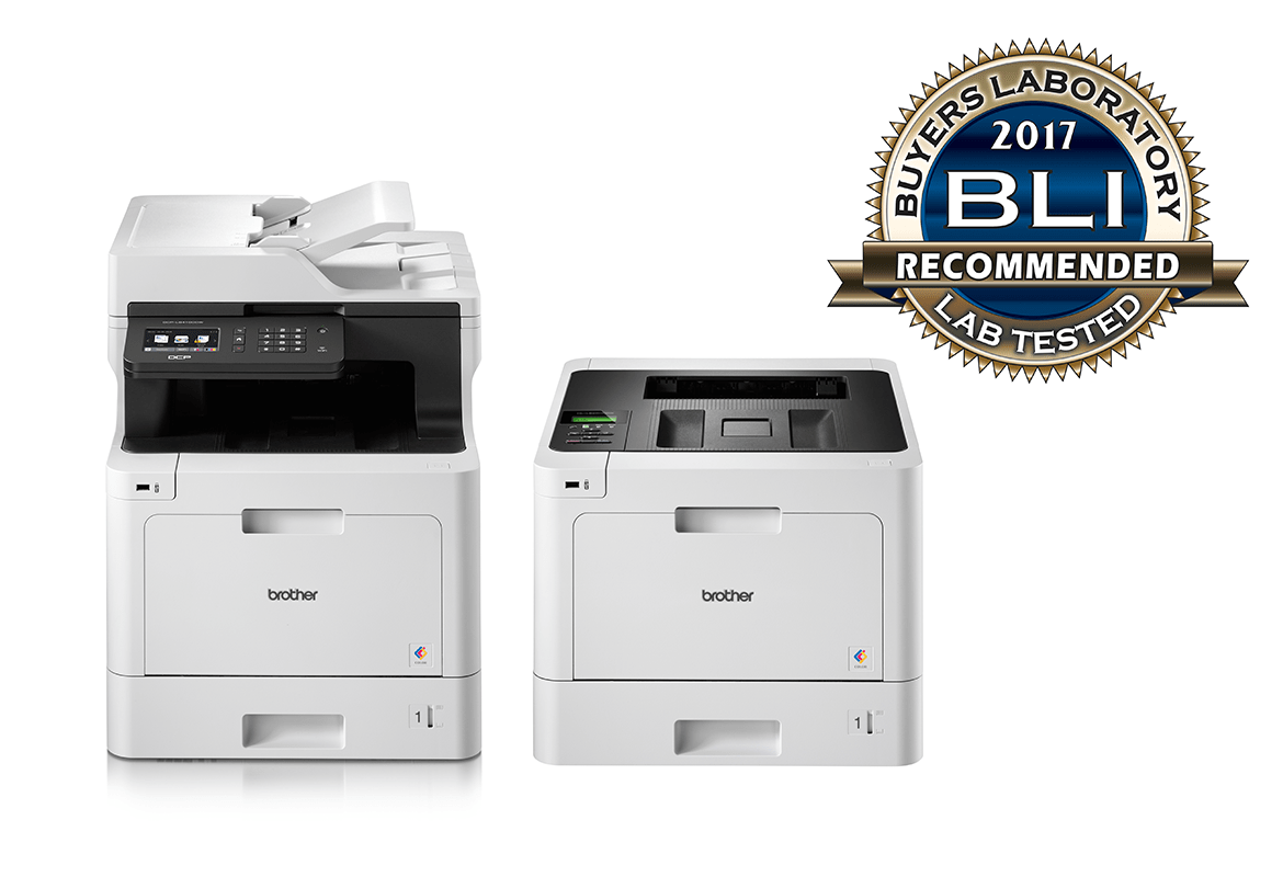 Range of Brother colour laser printers recommended by BLI