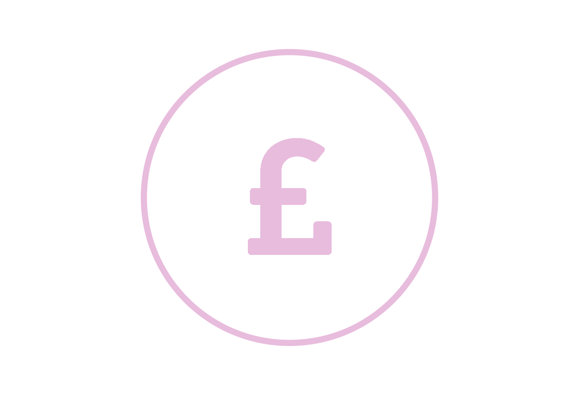 icon of a pound sign to indicate cost control