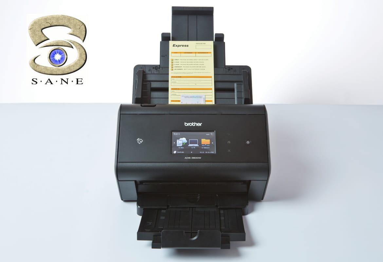 ADS-3600W wireless desktop document scanner with SANE
