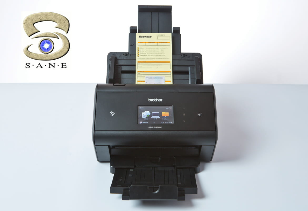 ADS-3600W wireless desktop document scanner with SANE
