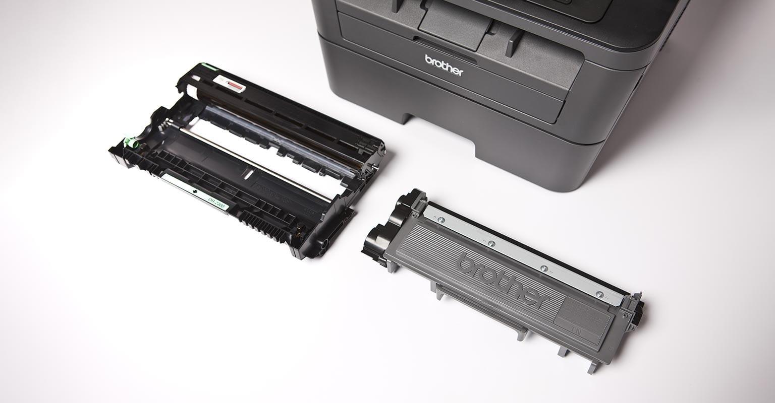 Brother L2540 mono laser printer with toner cartridge
