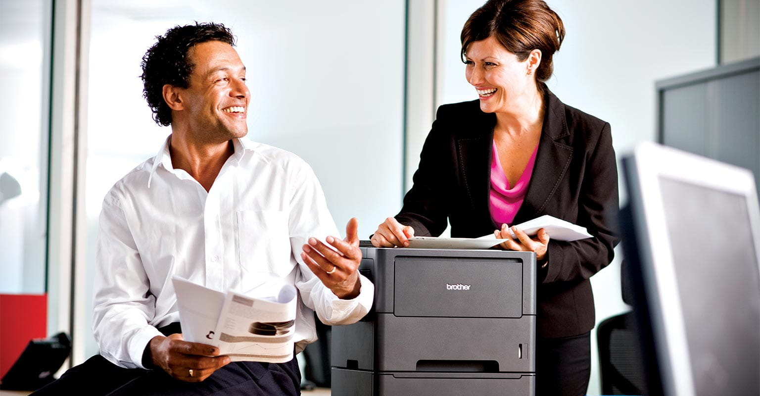 scene showing a discussion of Manage Print Services frequently asked questions
