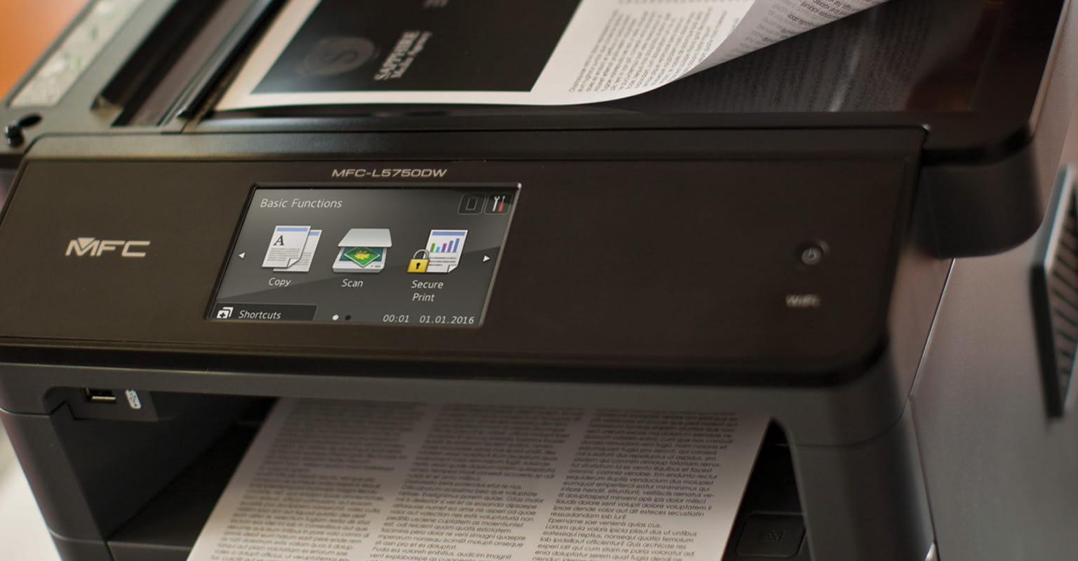 Scanning to the cloud on a Brother L6000 printer