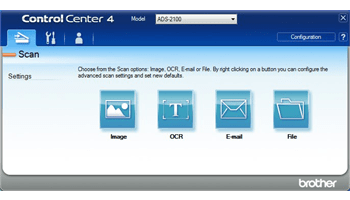 Brother Control Centre 4 software for ADS-2100