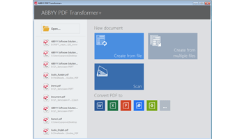 Screen shot of ABBYY PDF Transformer software