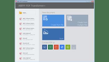 Screen shot of ABBYY PDF Transformer software