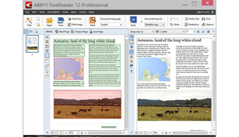 Screen shot of ABBYY FineReader Professional software