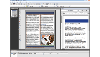Screen shot of Nuance OmniPage software