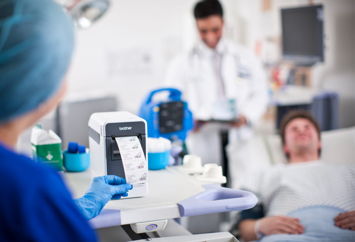 Brother Mobile Print Labelling Solution for healthcare
