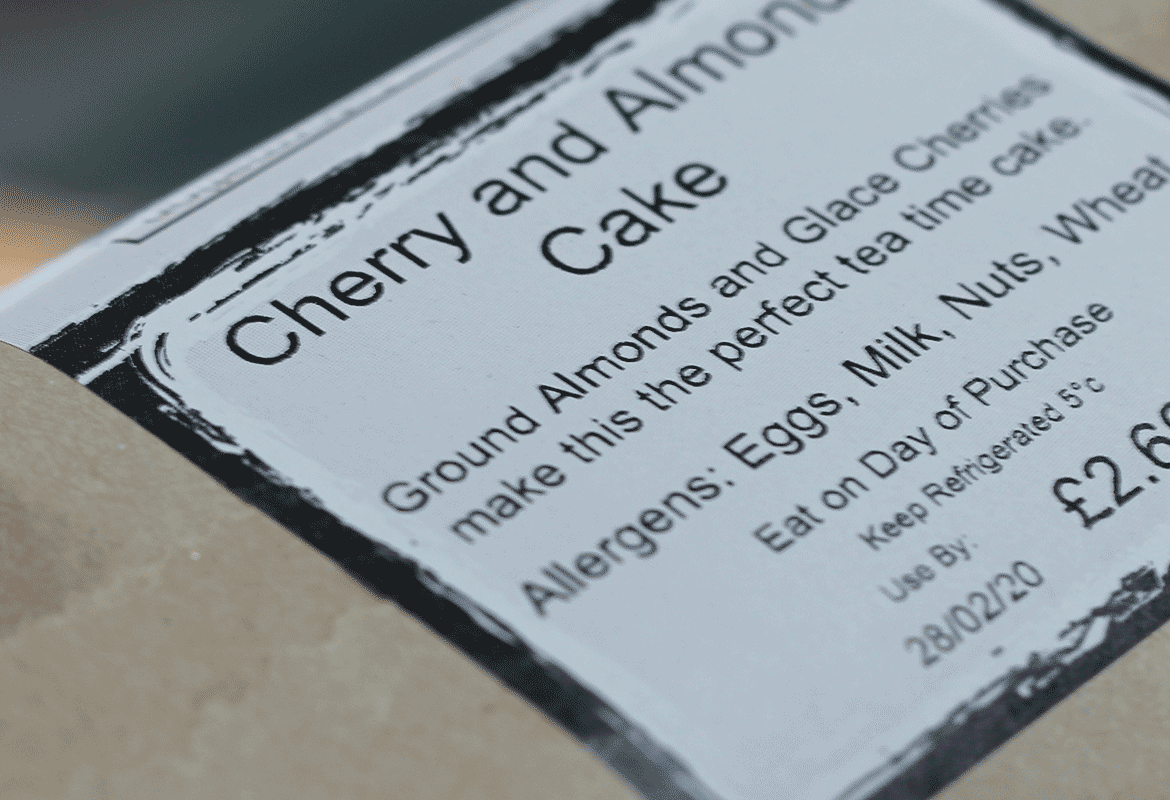 allergen information for a cherry and almond cake