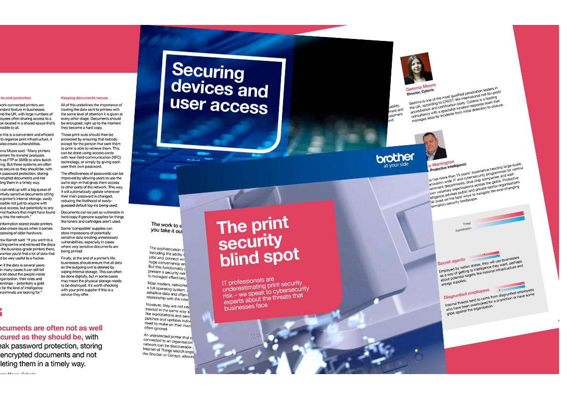 Front cover of Brother's The print security blind spot e-book