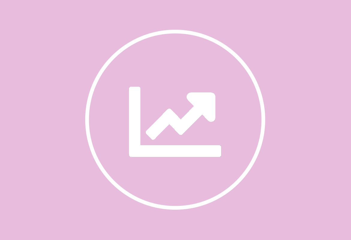 icon of a chart to indicate productivity