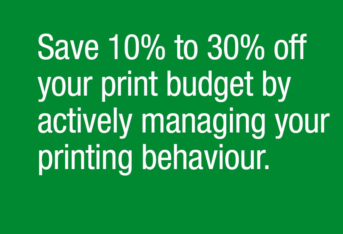 Print savings information