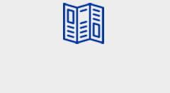 Blue manual icon