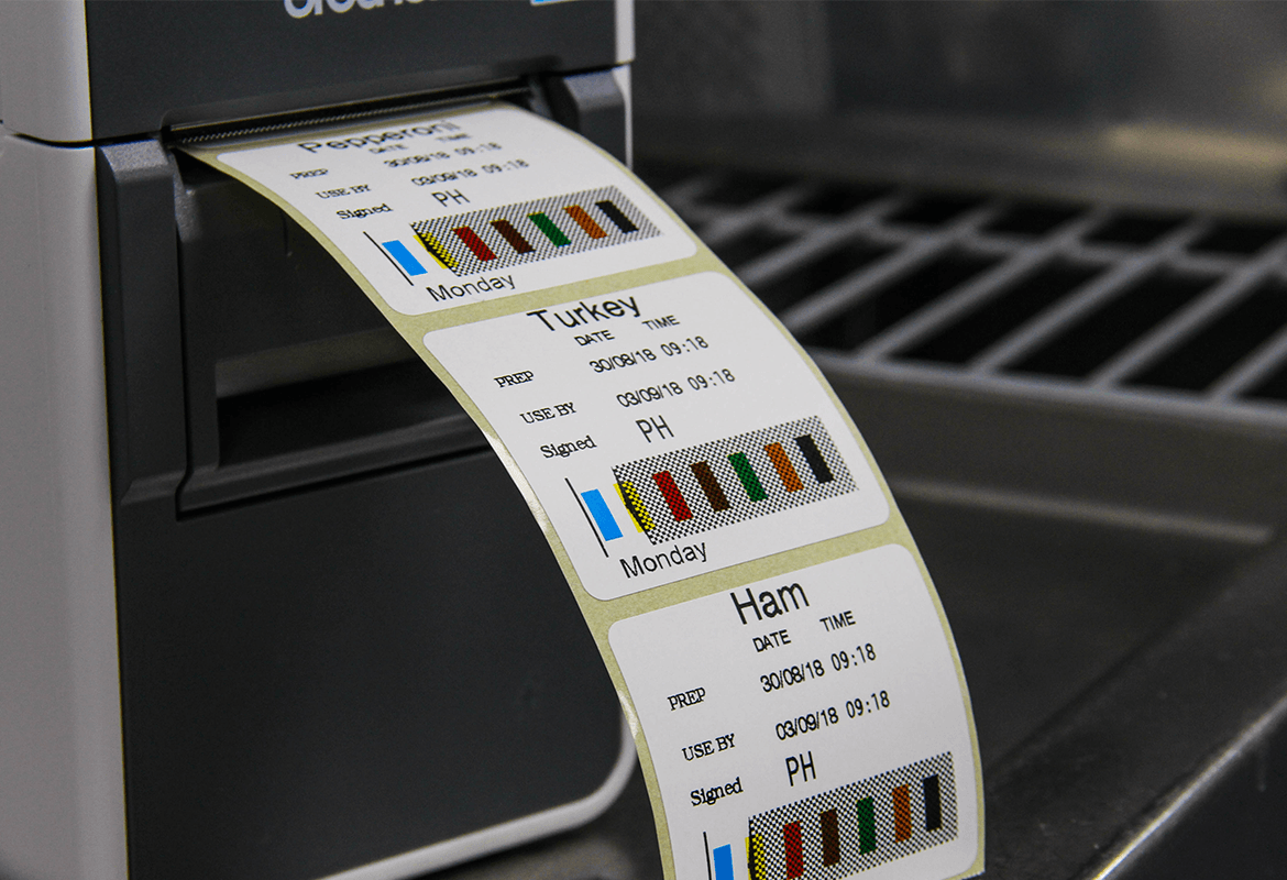 stock rotation labels being printed