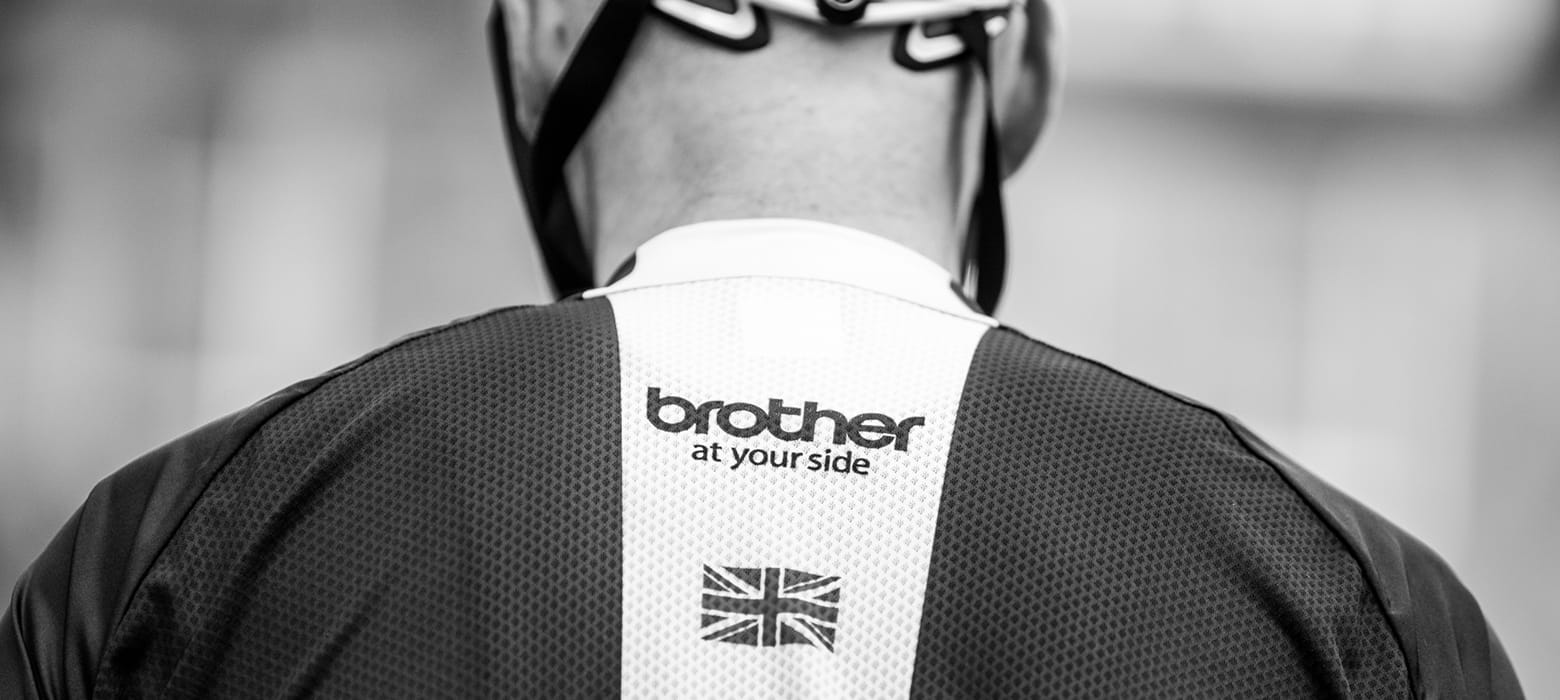 Brother Cycling Kit from behind, at your side logo