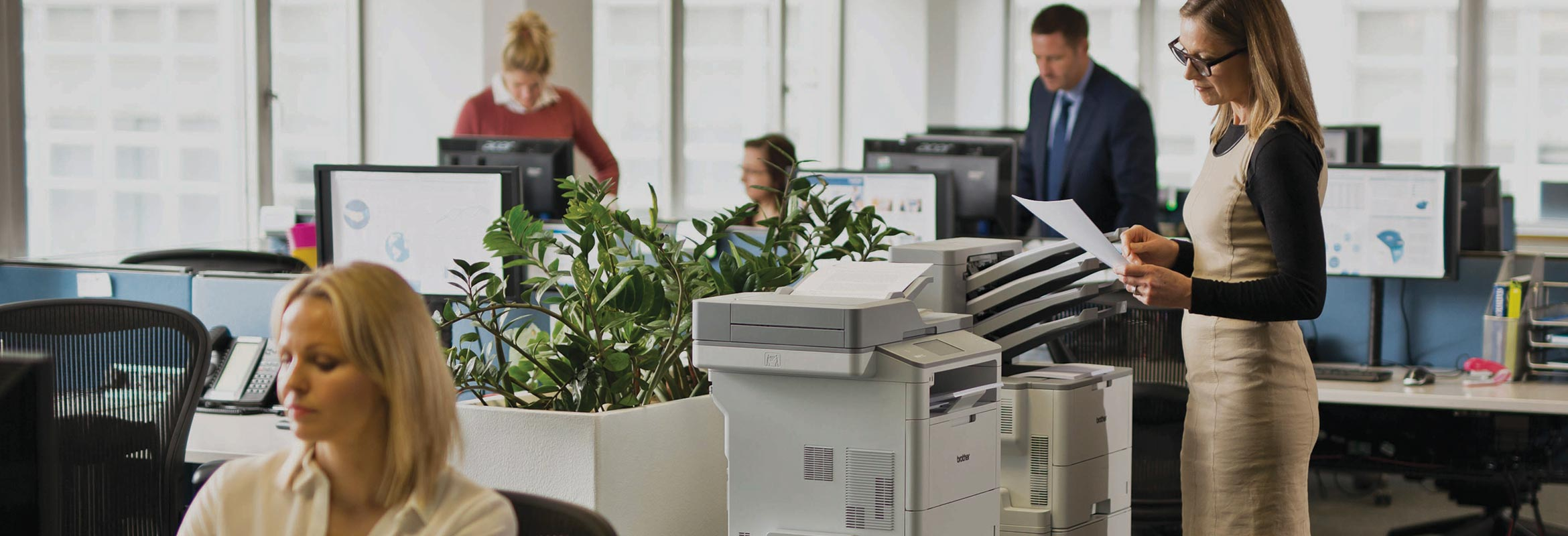 A busy office using Brother's L6000 range of printers
