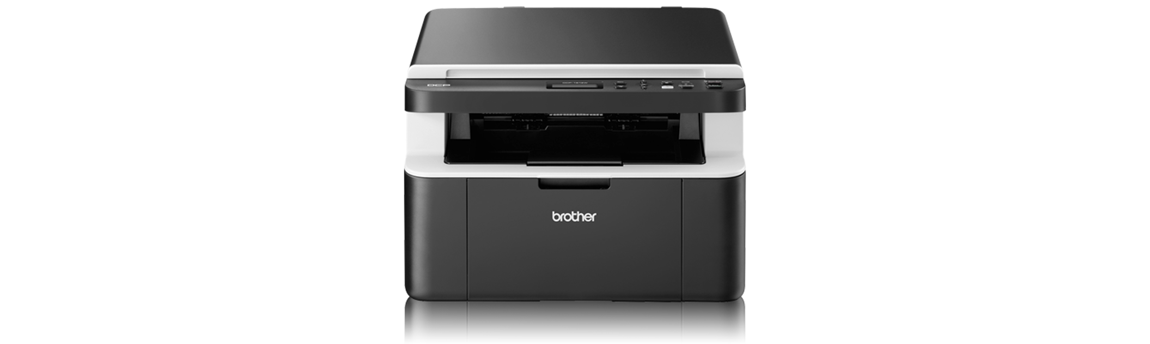 Brother DCP-1612W wireless compact mono laser printer front view