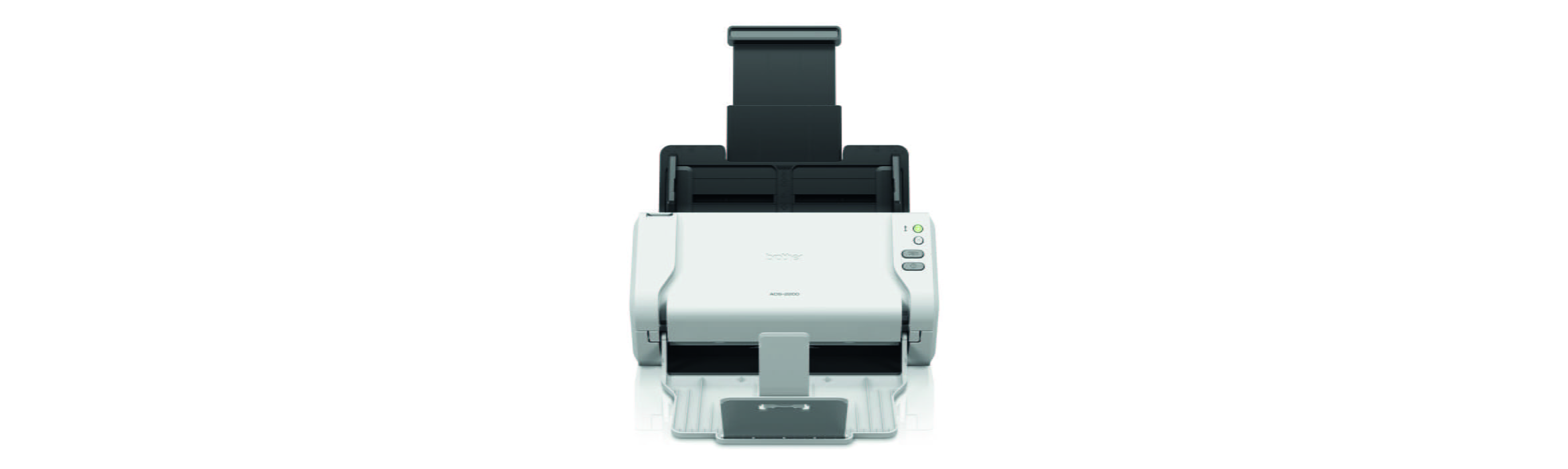 Brother ADS-2200 desktop document scanner front view