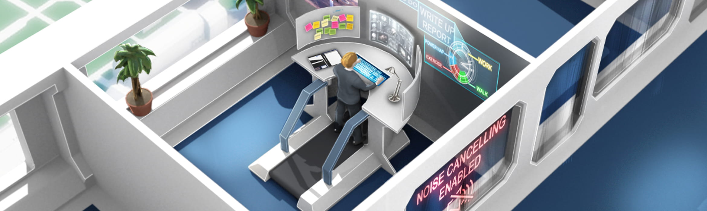 Future of the office: Anti-distraction tech and design for focus