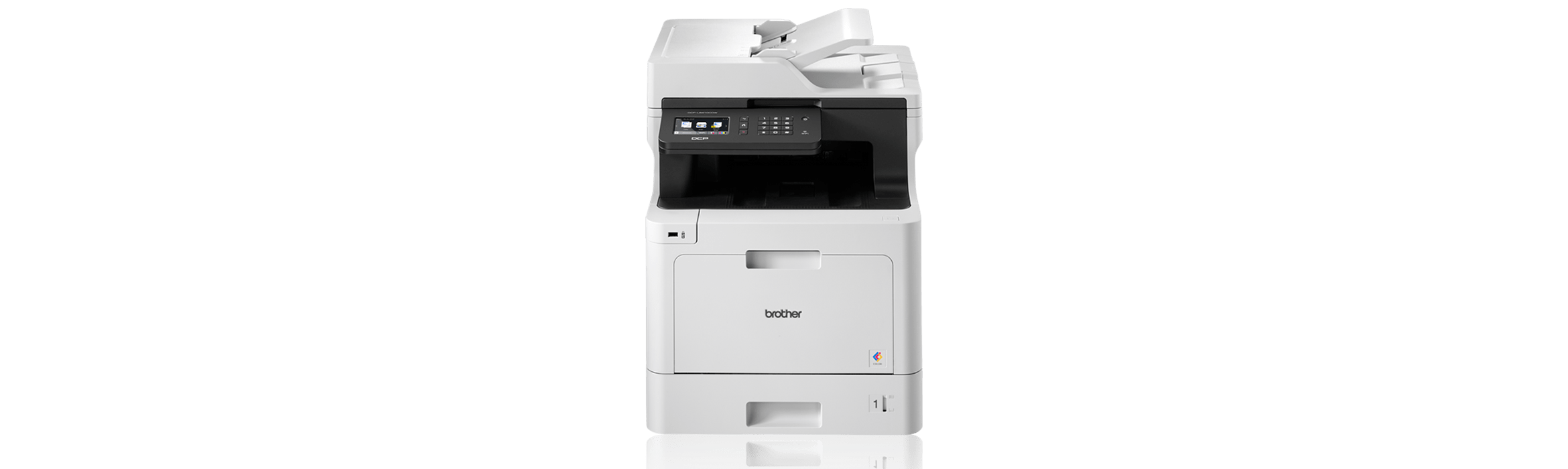 Image shows Brother DCP-L8410CDW Colour Laser Printer on promotion