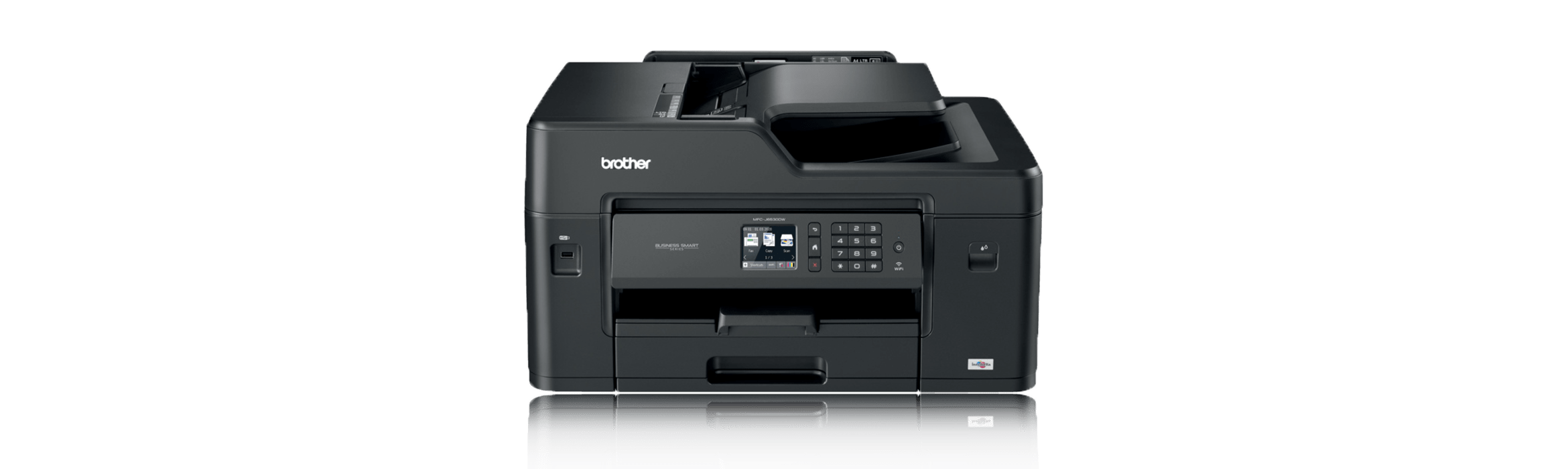 Image shows Brother MFC-J6530DW A3 Inkjet Printer on promotion