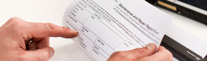maintenance repair report form repairs service