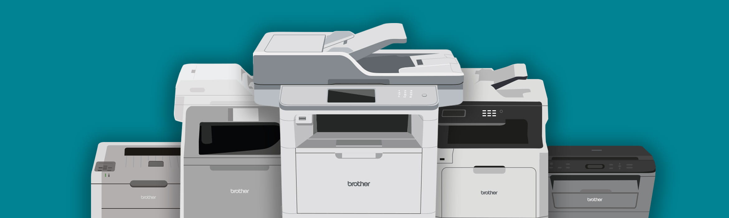 A series of Brother printers
