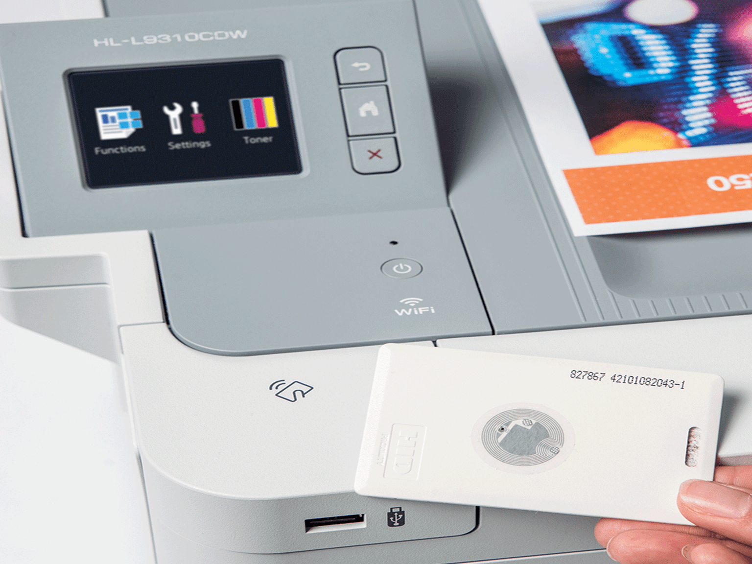 pull printing feature being used to release a document