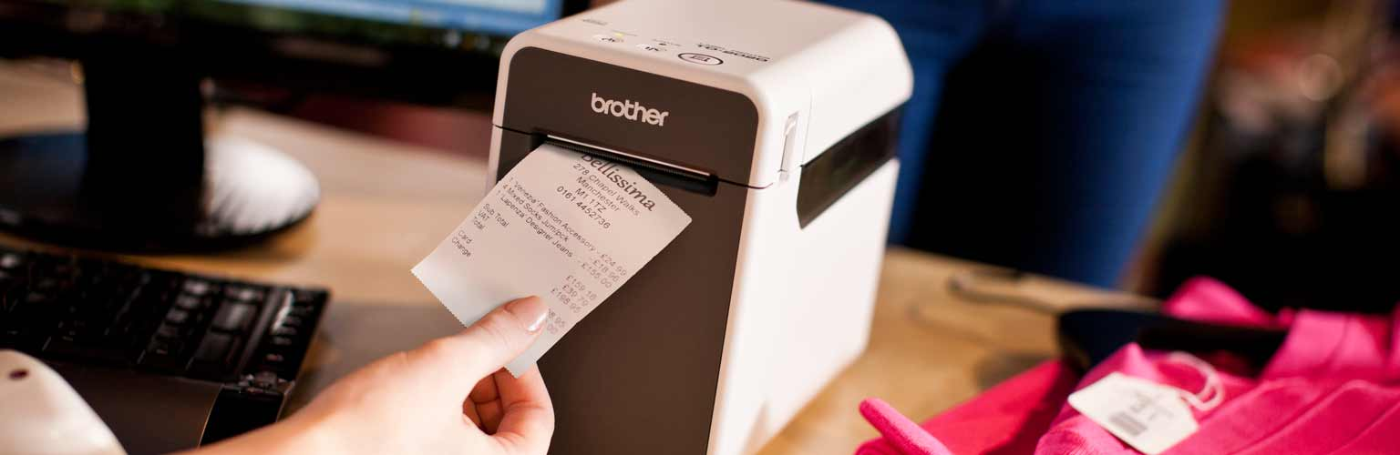 Brother's TD label printer used in a retail environment