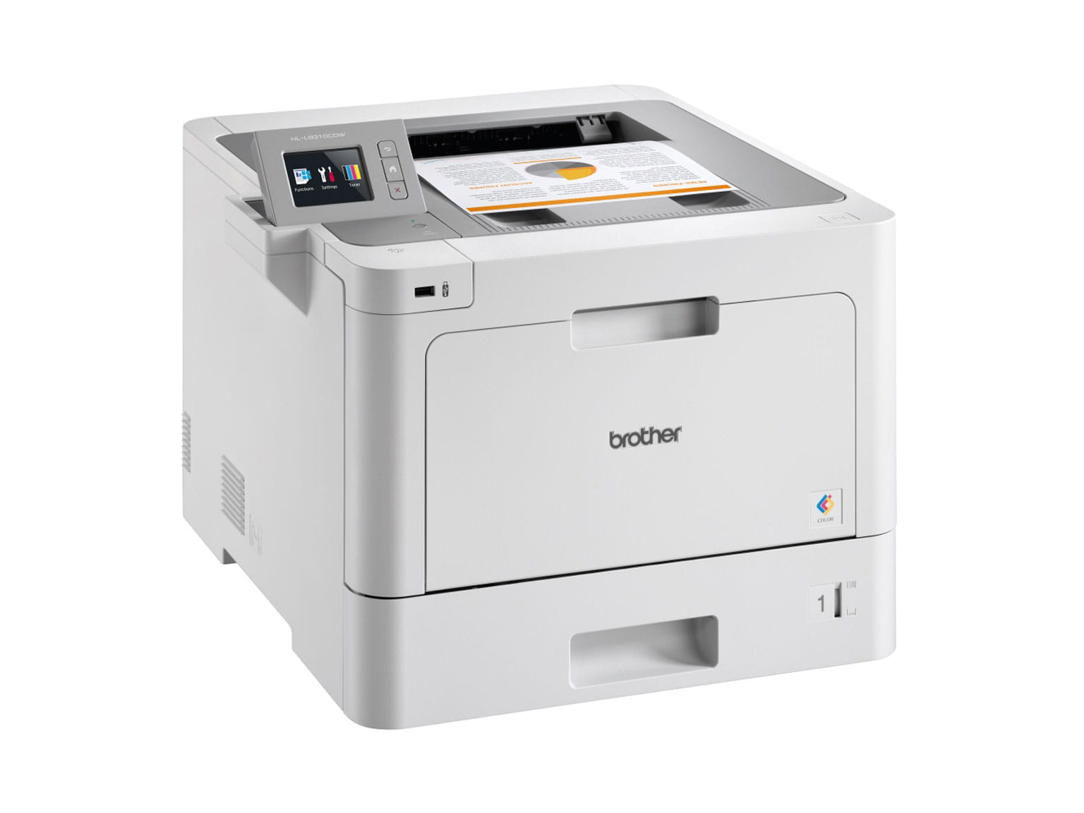 Brother colour laser printer 3/4 view