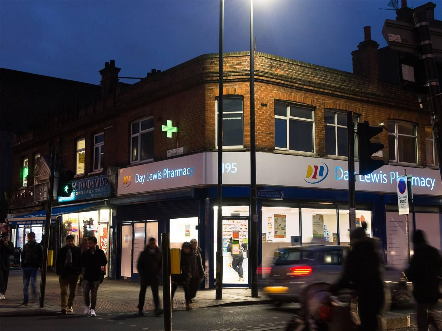 Day Lewis Pharmacy shopfront
