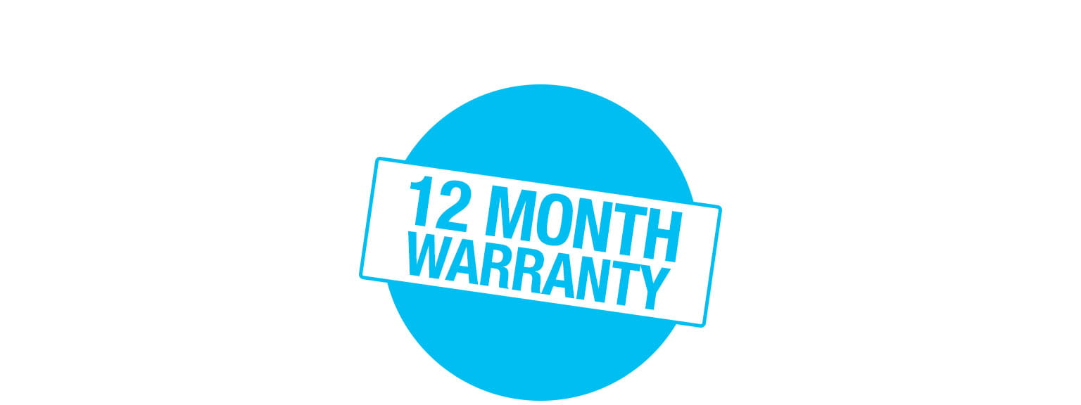 12 month warranty icon
