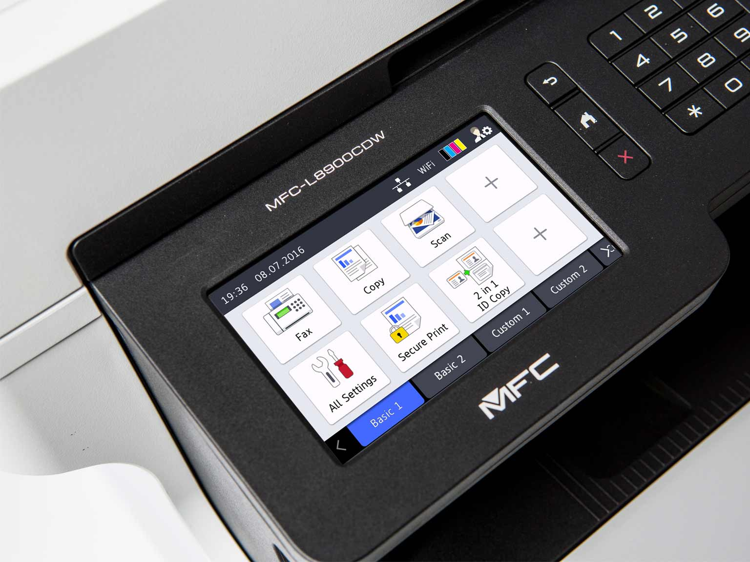 MFC-L8900CDW touch screen