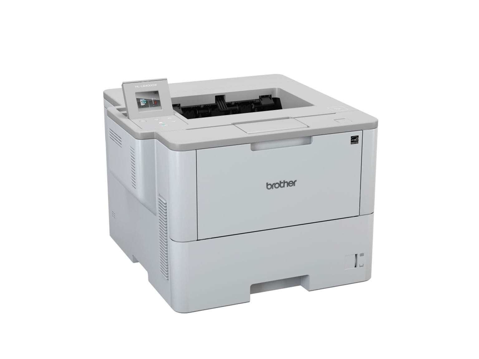 Brother mono laser printer 3/4 view