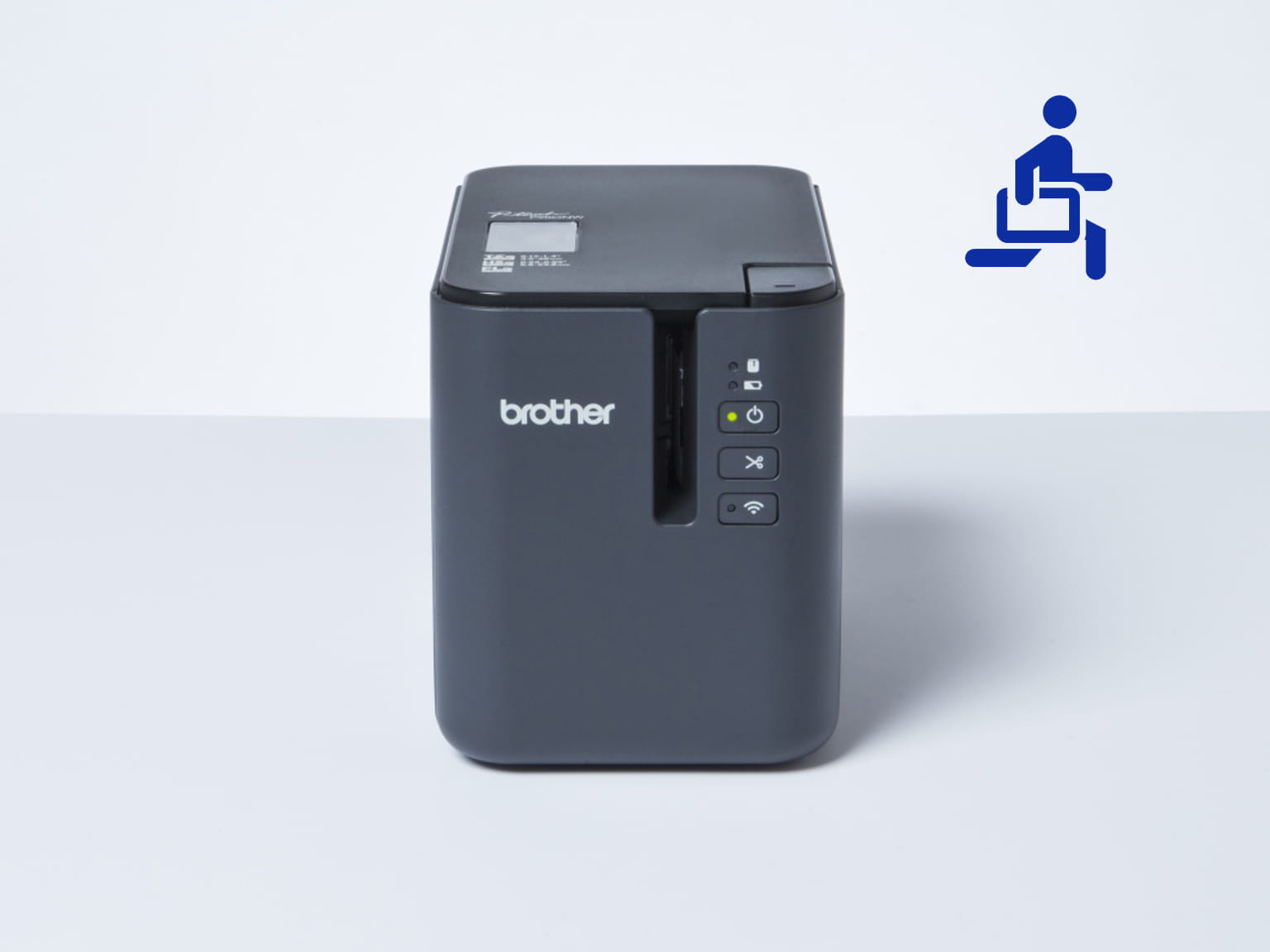 Brother mobile printer with blue mobility icon