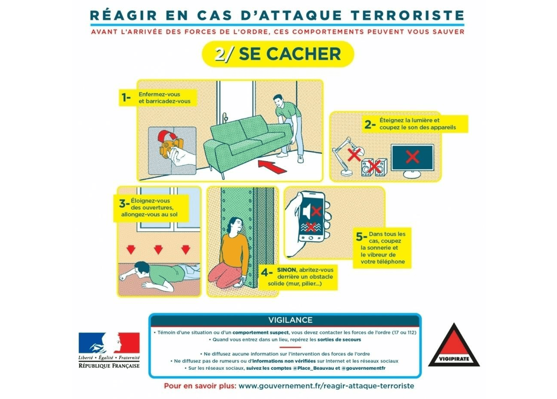 image showing french government comic in article about disaster planning for schools using printed materials