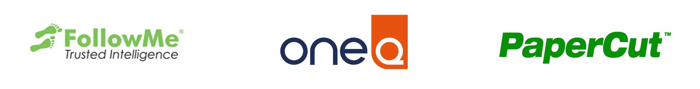 Print Smart compatibility - FollowMe, One Q and PaperCut logos