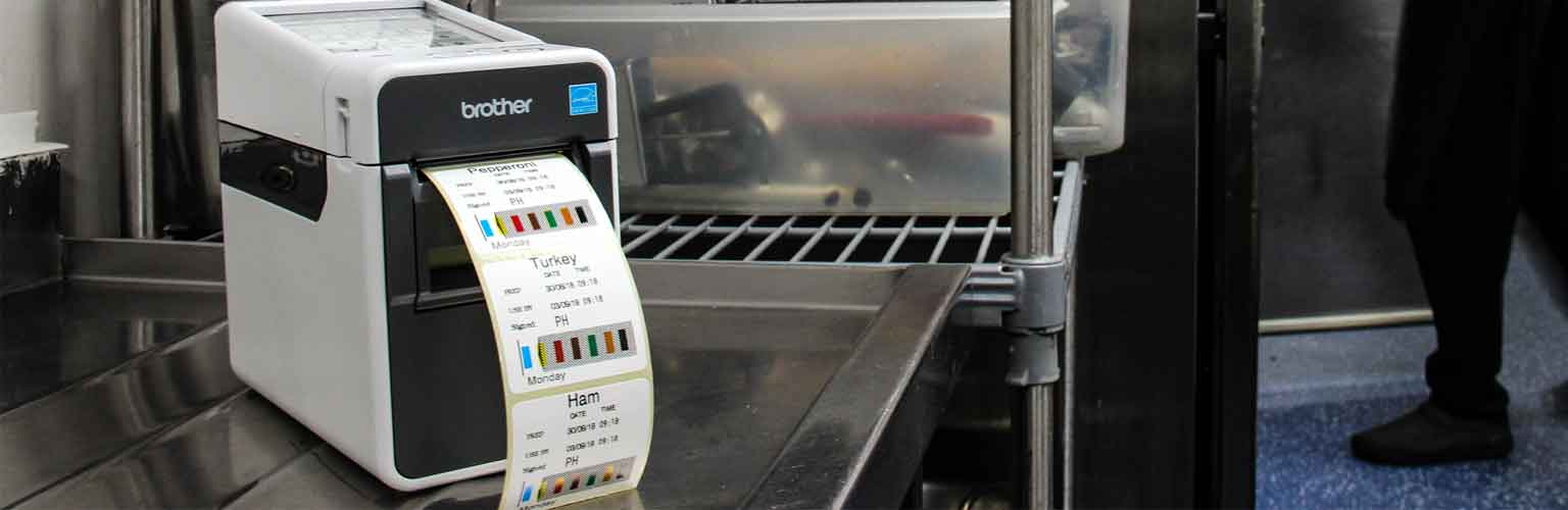 TD labeller used in a kitchen to label food
