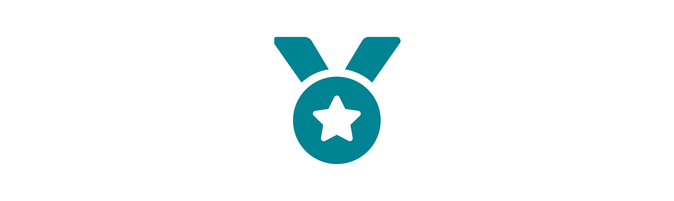 Blue medal with a star