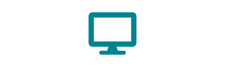 Blue computer monitor