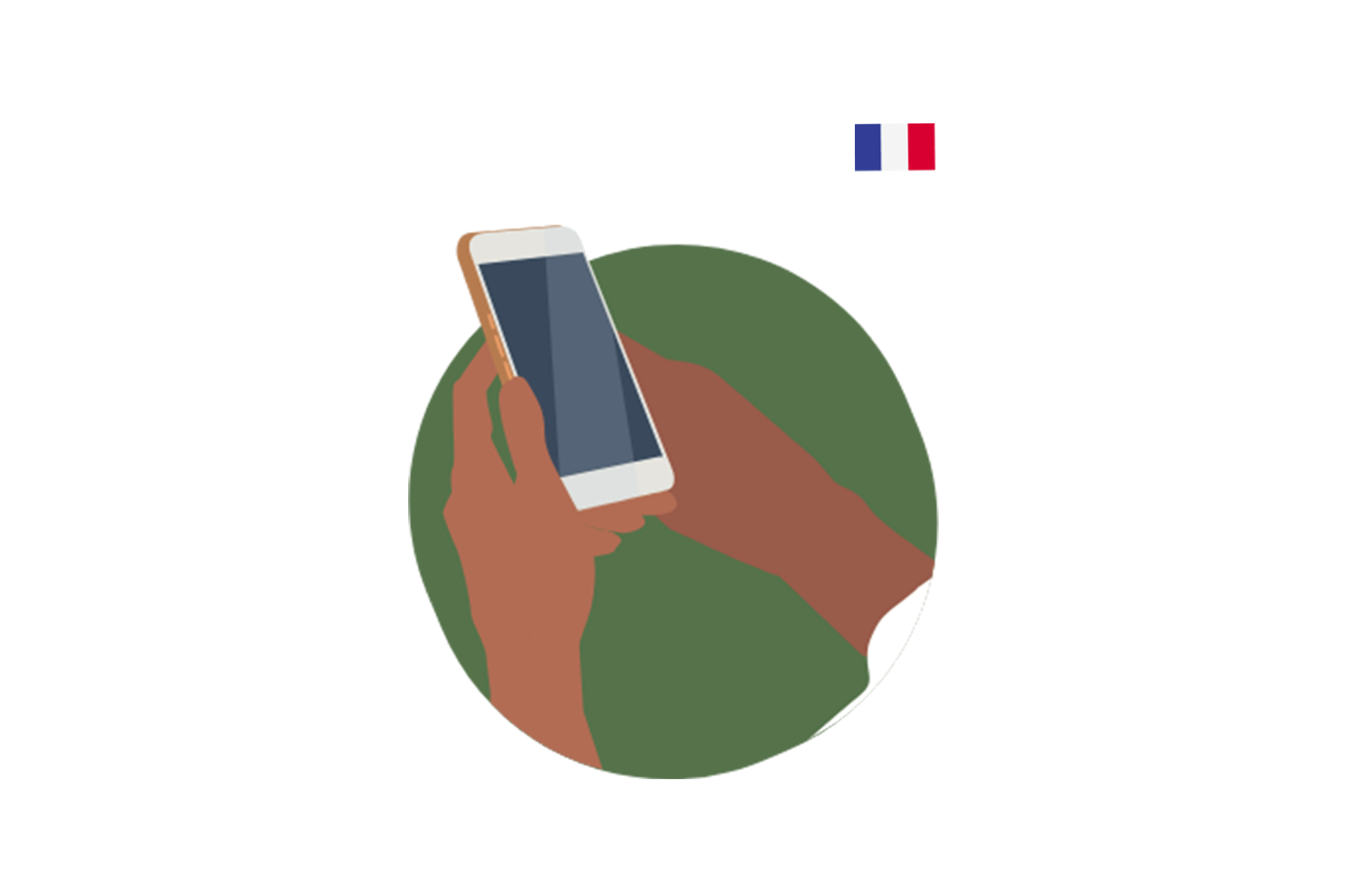 illustration of a mobile phone being used