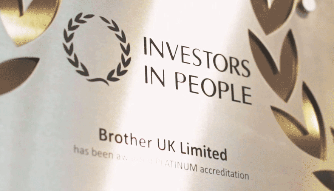 Close up of Brother UL's Investors in People award