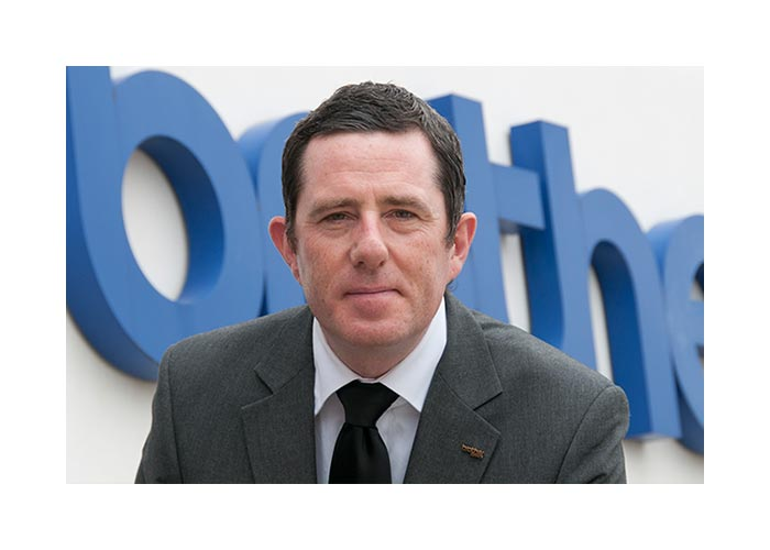 Brother UK Director Phil Jones outside head office