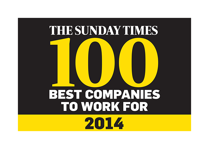 The Sunday Times 100 best companies to work for 2014