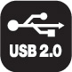 Hi-Speed USB 2.0 connection interface